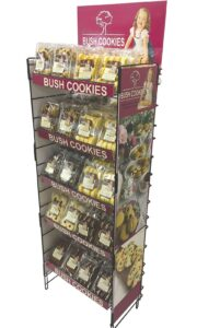 Bush Cookies display stand